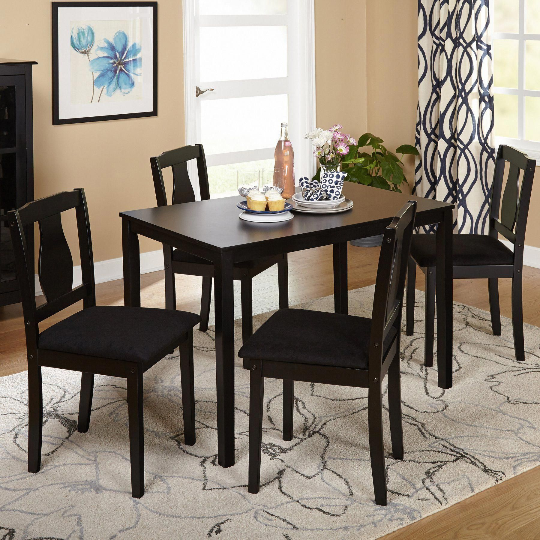 Target Marketing Systems Lizzy 5 Piece Dining Table Set 49015blk