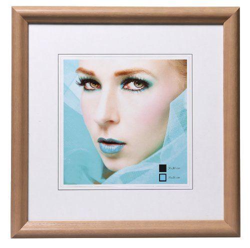 HR22 Bilderrahmen Holz Rahmen 20x20 30x30 40x40 50x50 quadratisch Fotorahmen Farbe Hellbraun