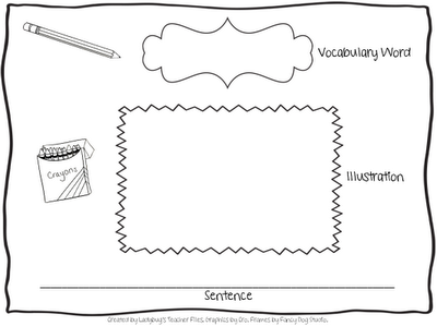 Gratifying image with regard to vocabulary graphic organizers printable
