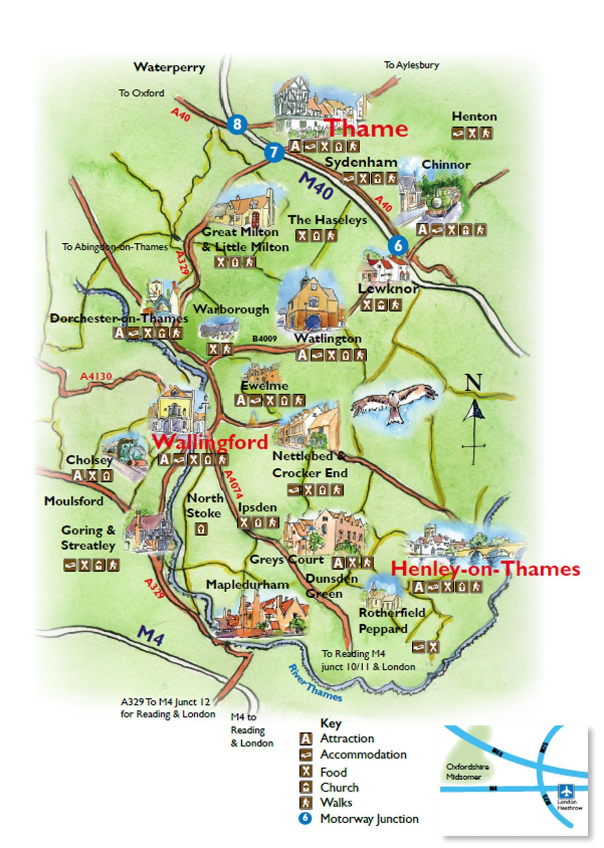 South Oxfordshire towns villages and hamlets  The Midsomer Map