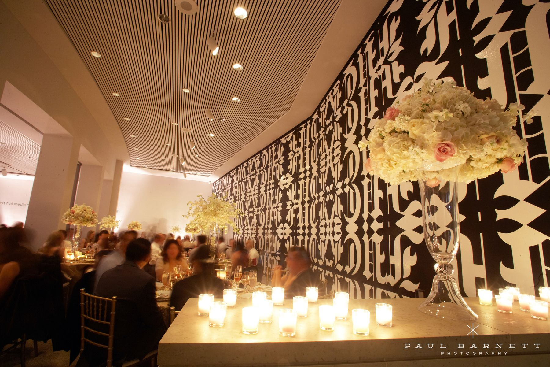 A Candlelit Wedding Reception Inside The Museum Of Contemporary Art