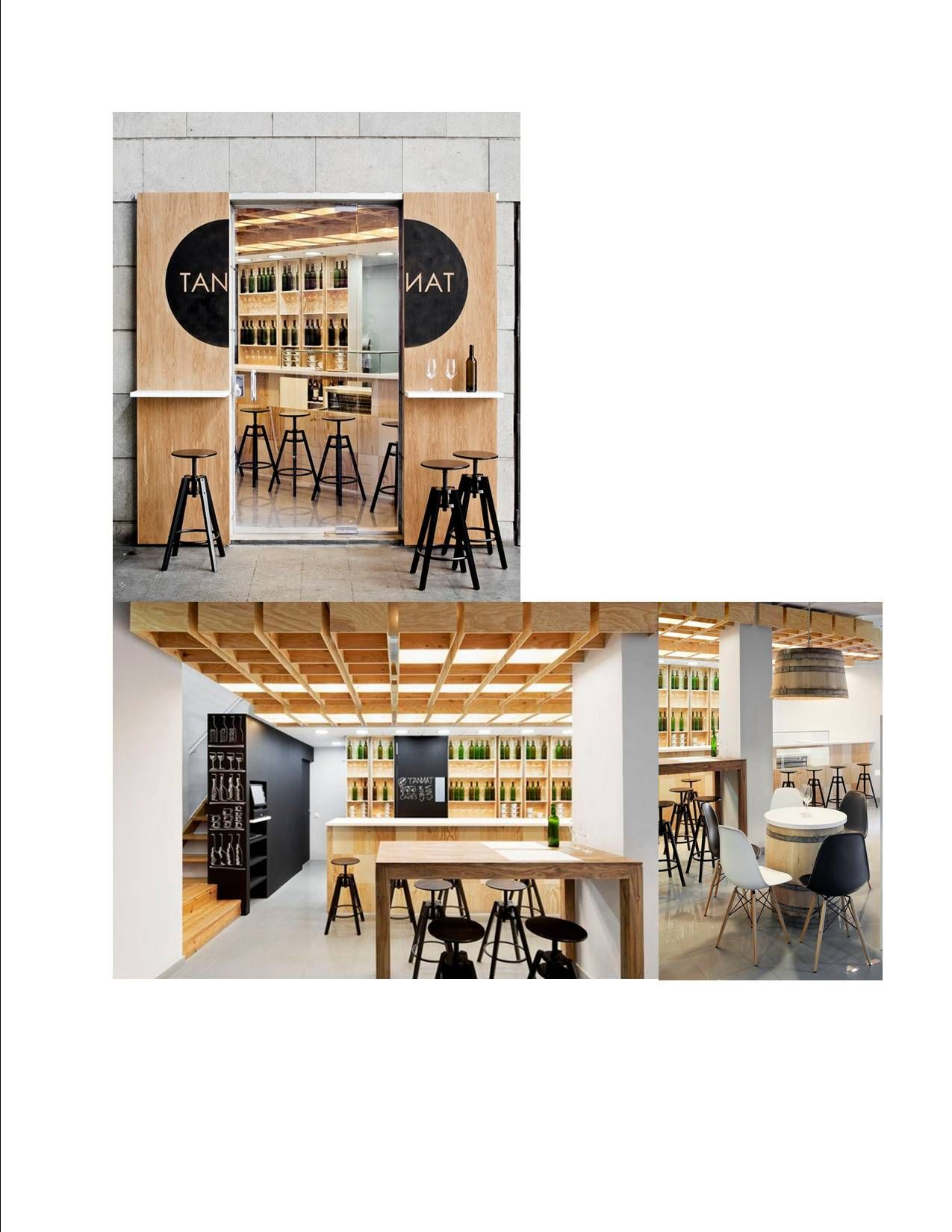 Barcelona, Tannat  beautiful restaurant decor designed by Àbag Arquitectura. Look what a mirrored door can do. Really special! PopUpRepublic.com