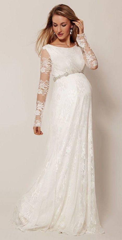 38e305878 Deslumbrantes vestidos de novia para mujeres embarazadas  3 ...