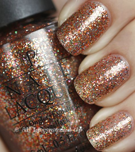 Opi Holiday 2010 Burlesque Collection Glitter Swatches Review