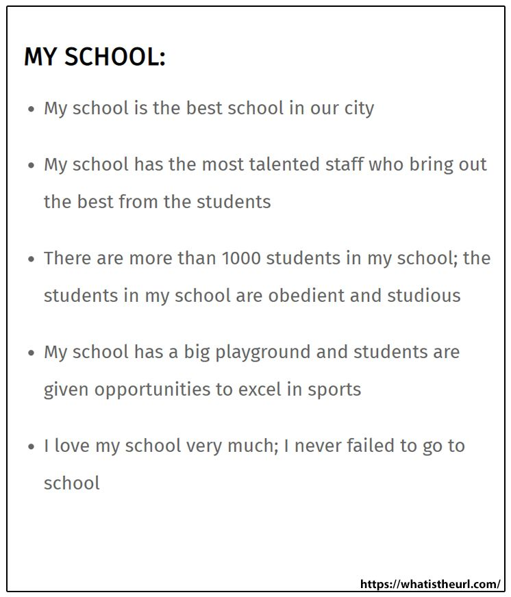 Essay About My School