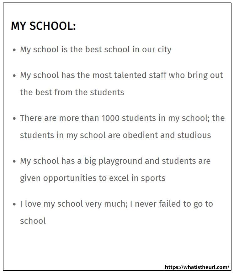 My School Essay School Essay I School Short Essay