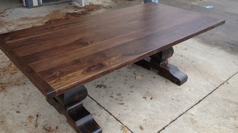 Black Walnut Wood Furniture Table And Chairman U2013 Fine Antique Wood Tables  Quality Comes