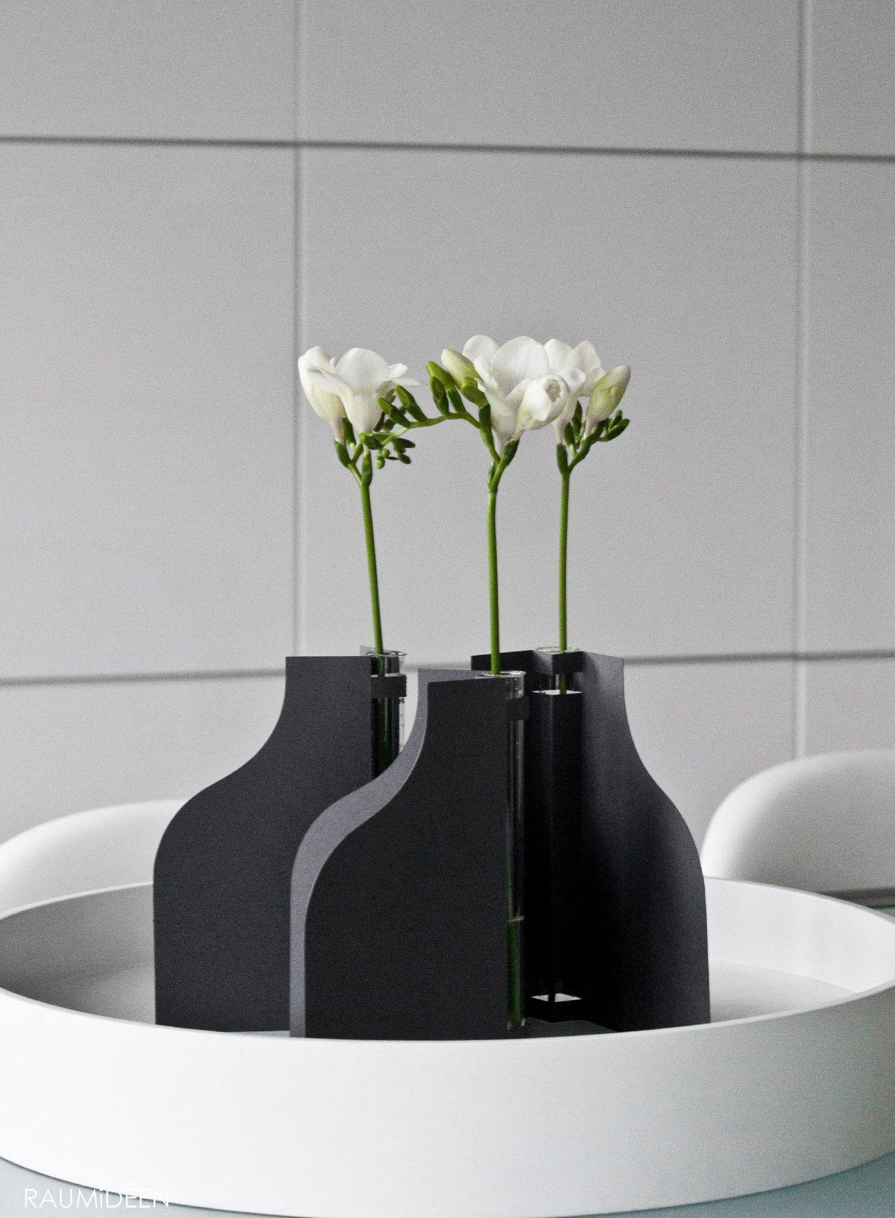Freesien Blumendekoration Papier Vase
