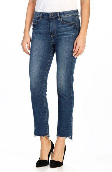PAIGE   Legacy Jacqueline Raw Hem High Rise Jeans