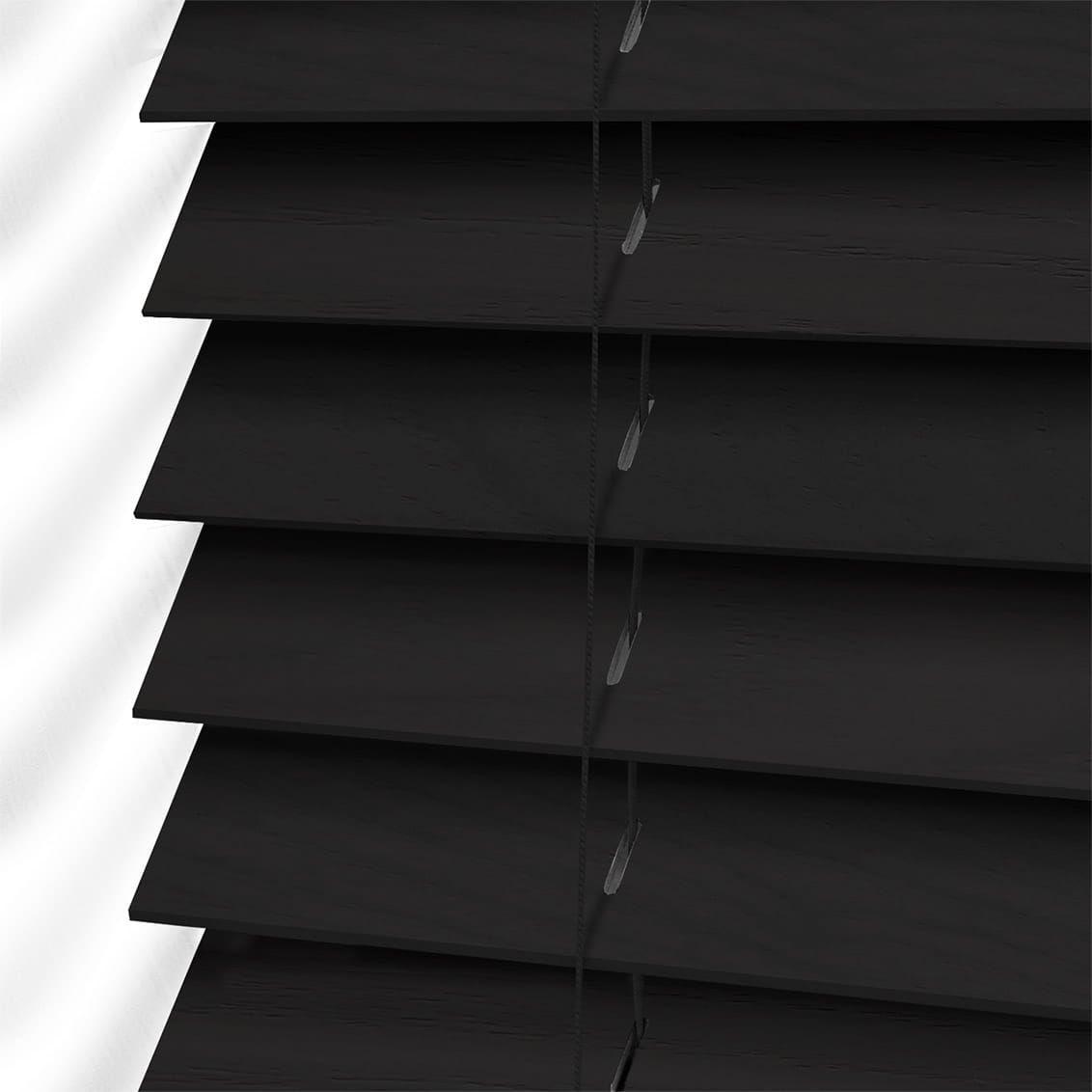 Black walnut wooden blind mm slat verticalblindsideas