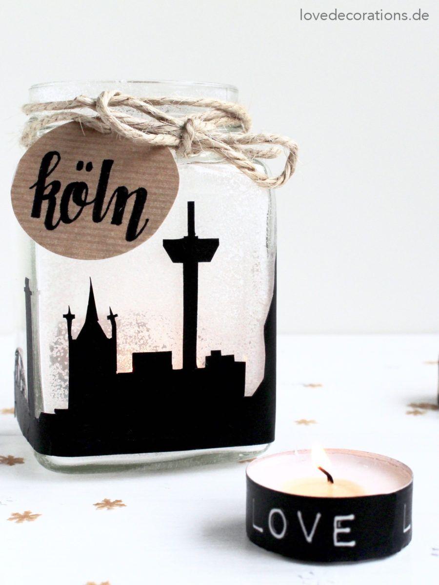 DIY Skyline Teelichtglas + hallo Winterzeit - Love Decorations