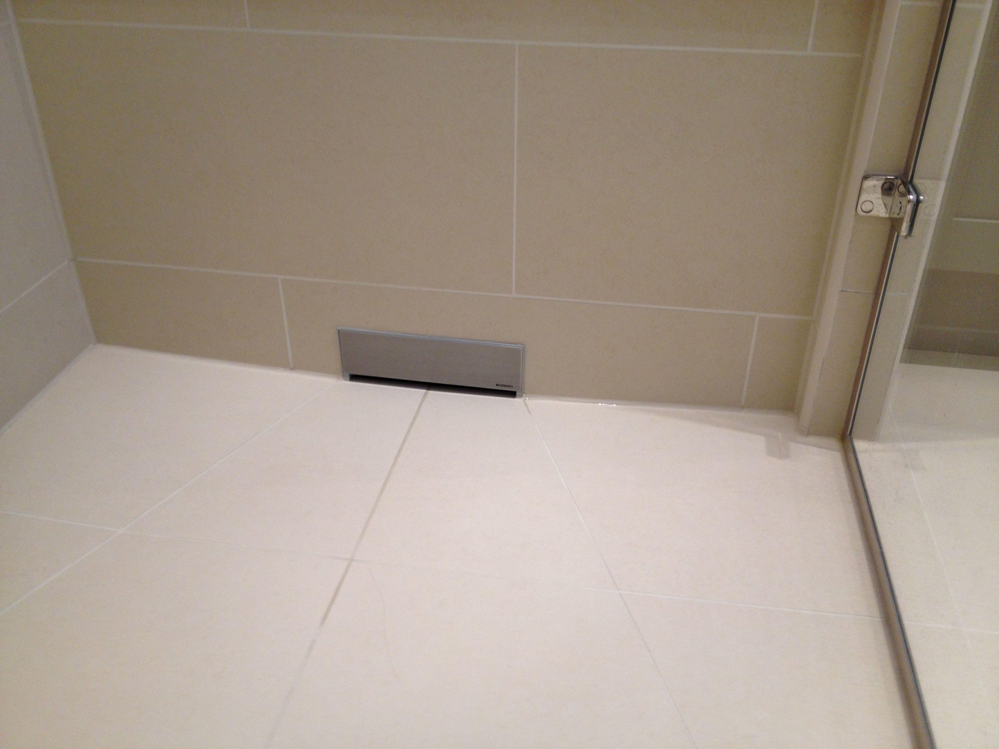 """Wet floor shower using Geberit """"in"""