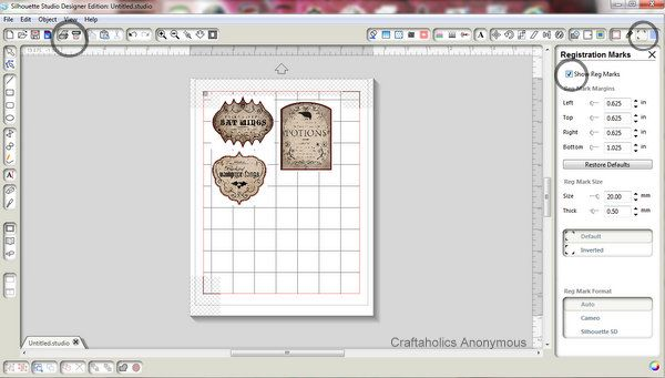 How to use Silhouette's Print and Cut feature #silhouette #tutorial #craft