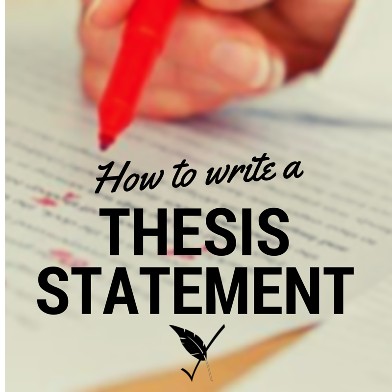 writing a thesis statement lesson plan middle school