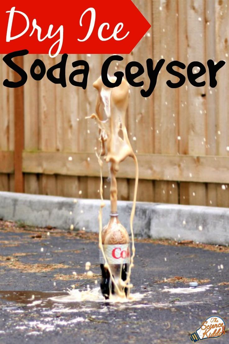 Soda geyser dry ice science experiments and stem activities create an impressive soda geyser eruption using dry ice and diet coke better than the robcynllc Gallery