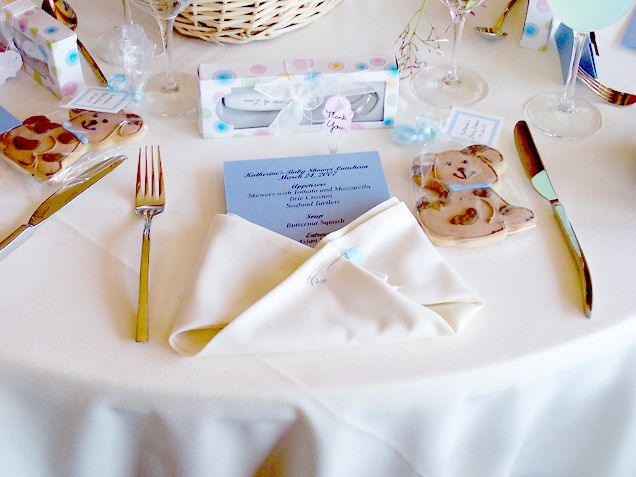 Fold A Napkin Like A Diaper For A Baby Shower