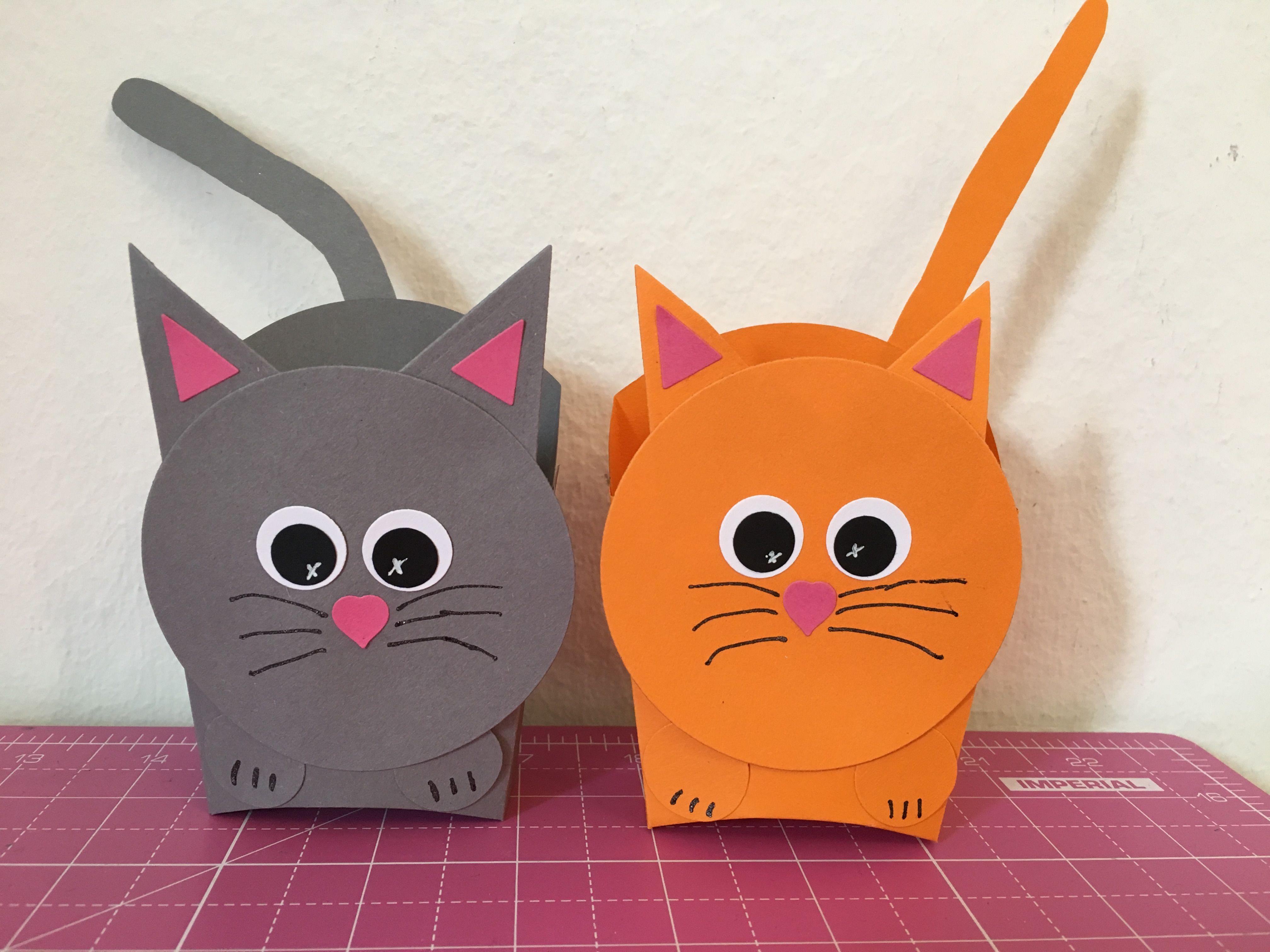 Stampin up - Pommes Schachtel als Katze