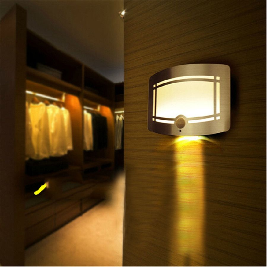 Led outside night light - Night Light 10leds Wireless Infrared Pir Motion Sensor Led Lights Wall Sconce Battery Powered Porch Night