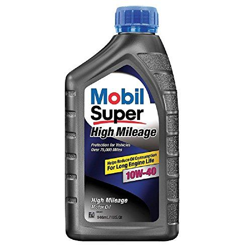 Mobil Super 1129456pk High Mileage 10w40 Motor Oil 1 Quart Pack Of 6 More Info Could Be Found At The Image Url It Is An Af Oils Car Oil Change Motor Oil