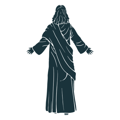 Back View Jesus Silhouette Ad View Silhouette Jesus Silhouette Silhouette Png Jesus