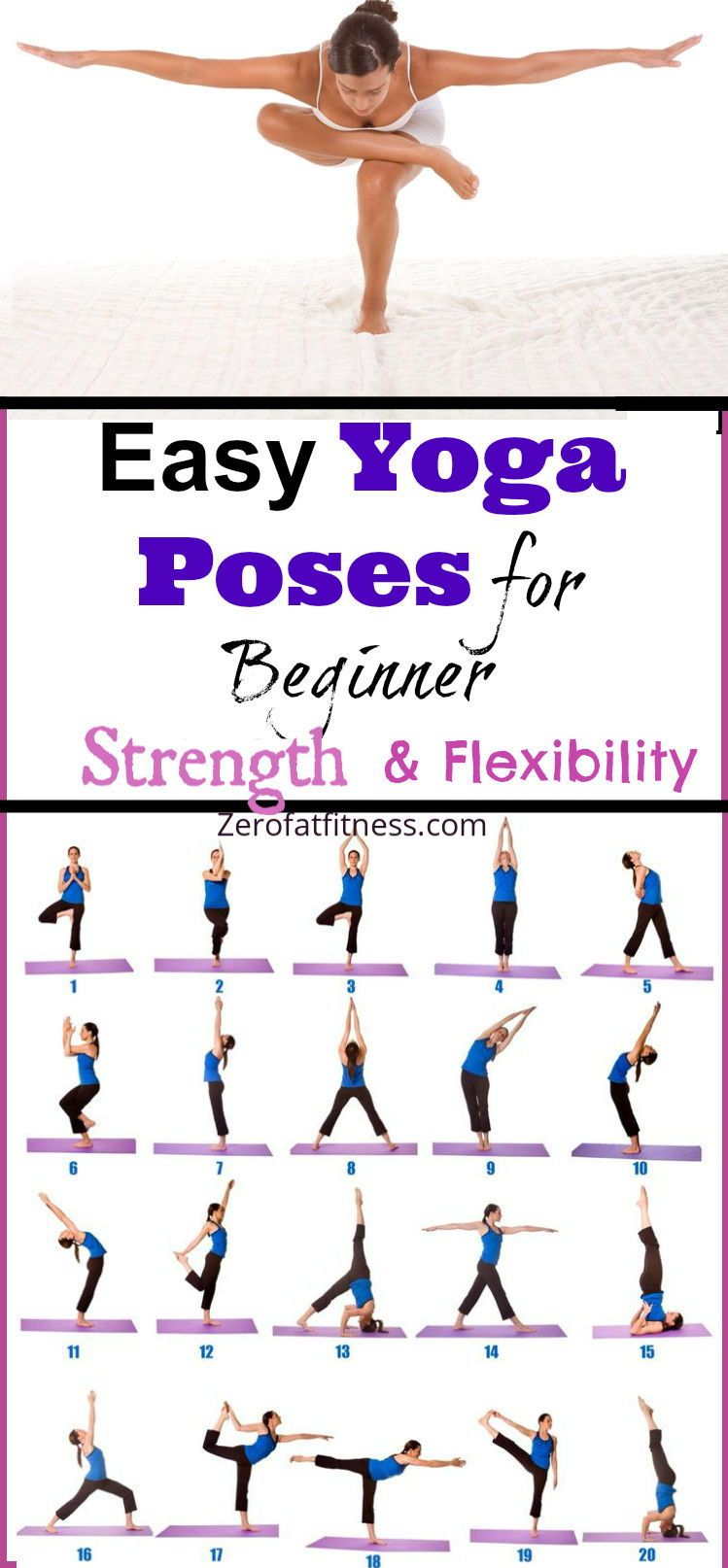 10 Minute Beginners Yoga Poses For Flexibility And Strength Morning Yoga Poses Easy Yoga Workouts Yoga Poses For Beginners