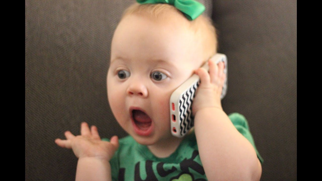 Funny Cute Babies Talking on the Phone Compilation - YouTube https://www.