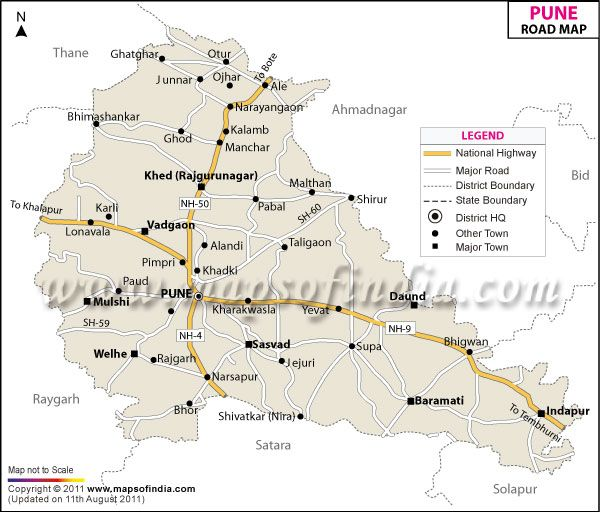 Tourist Places To Visit In Pune: Pune, India Map, Map