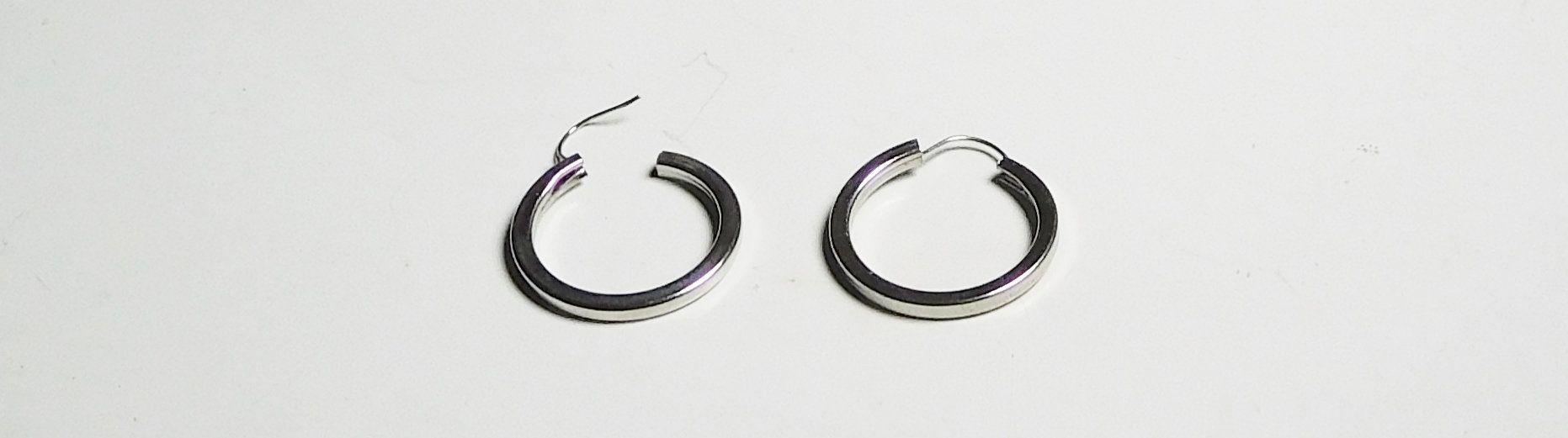 Hoop studs hoop earrings by souvenir handmade silver hoops