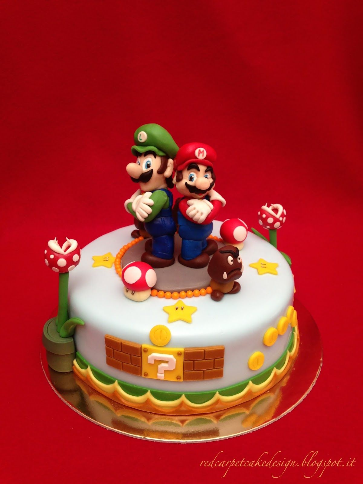 Super Mario Bros Cake By Red Carpet Cake Design
