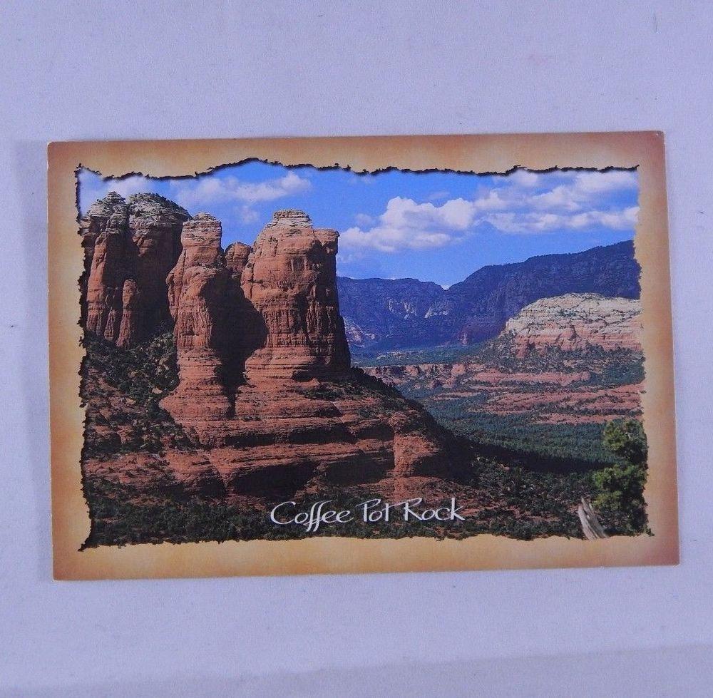 Vintage Postcard COFFEE POT ROCK Sedona Arizona 1983 Bob
