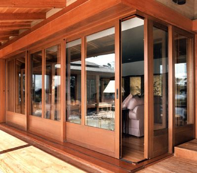 Corner sliding door what about pocket doors room for Corner sliding glass doors