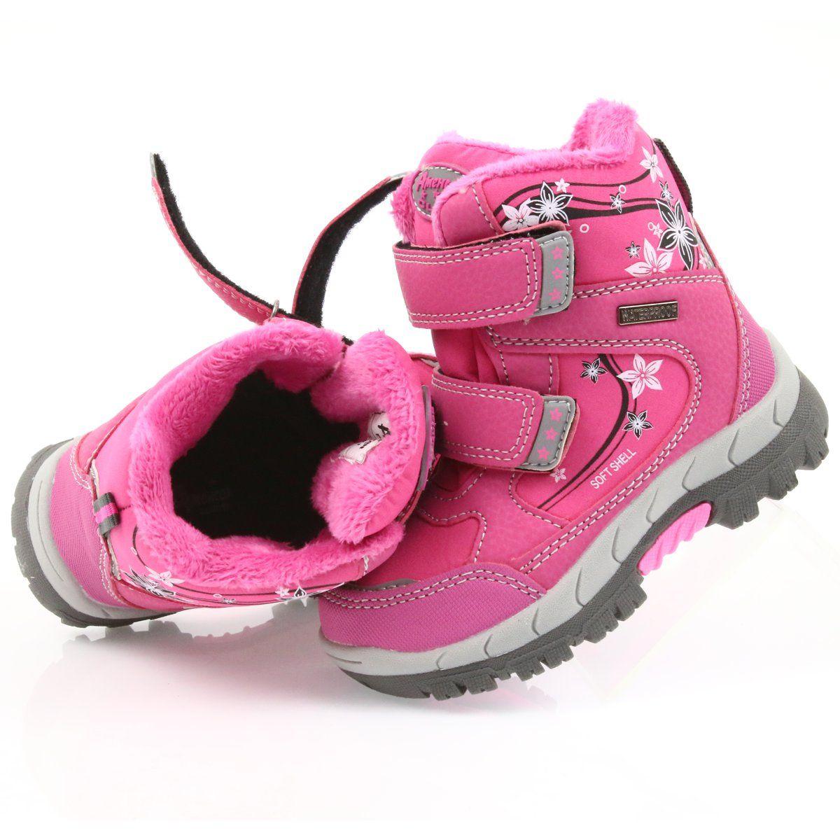 American Club American Buty Zimowe Z Membrana 3121 Rozowe Shoes Baby Shoes Kids