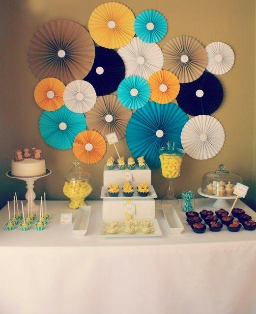 Blog La Pequetita Decoração De Festas Com Leques De Papel
