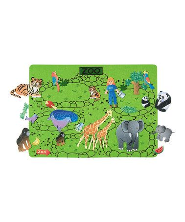 This Busy Day at the Zoo Felt Tale Set by Babalu, Inc. is ...