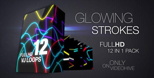 Glowing Strokes VJ Loops Pack