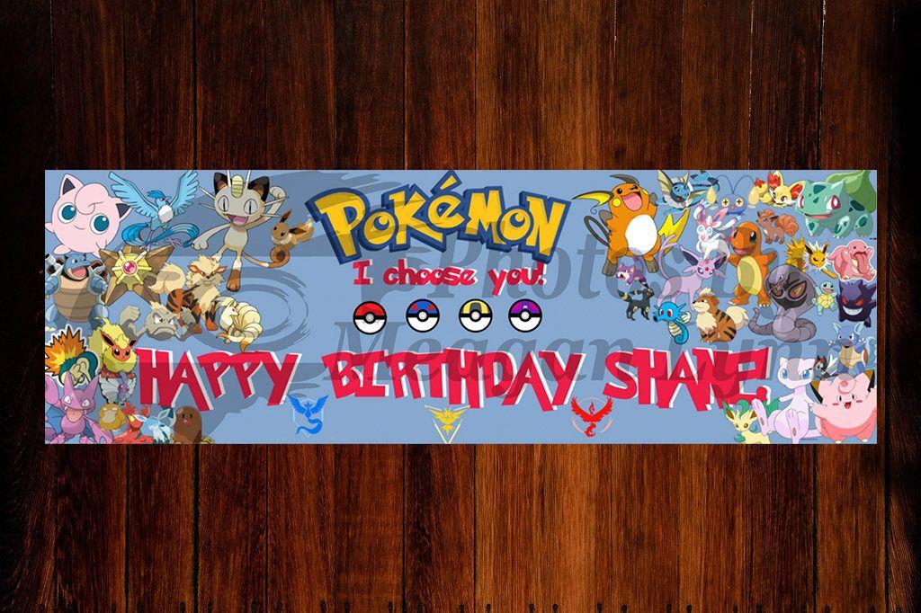 Pokemon Birthday Banner Etsy Birthday banner, Pokemon