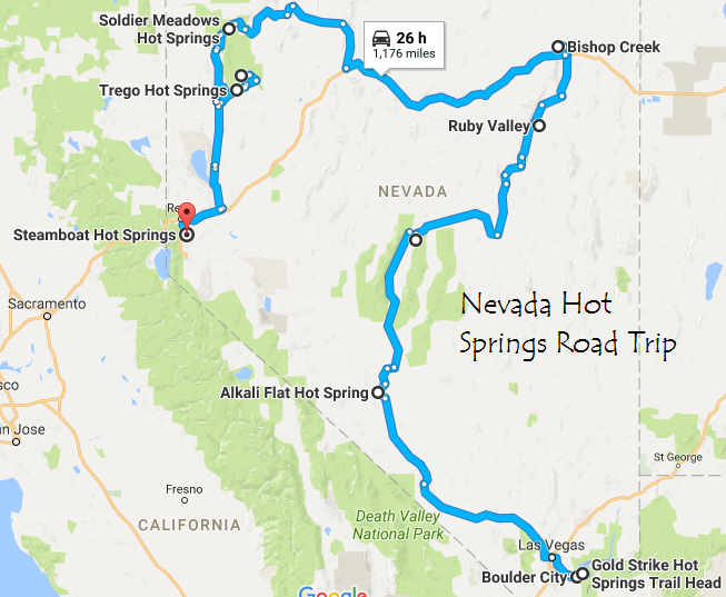 This Hot Springs Road Trip Through Nevada Is The Ultimate Guide To Relaxation Nevada Travel Las Vegas Trip Vegas Trip