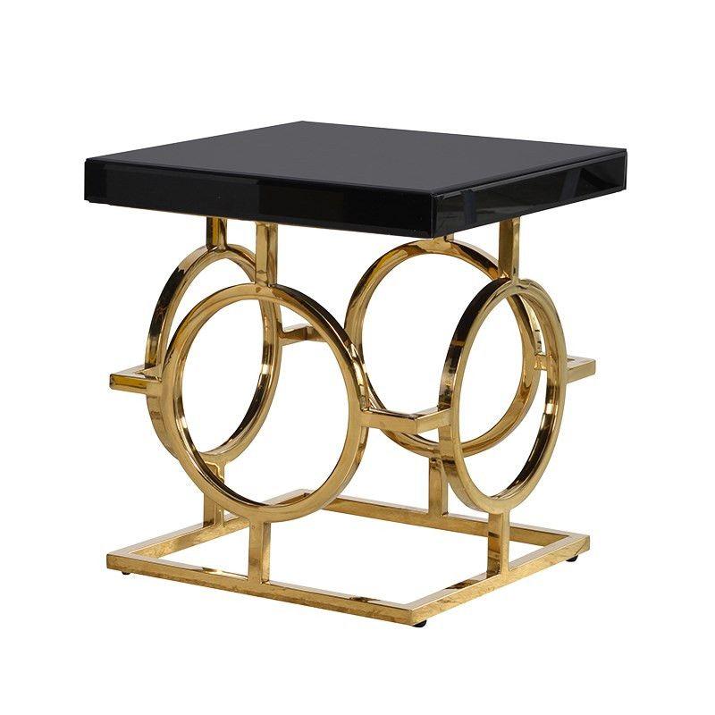 The Mackintosh Gold Black Gl Side Table Pinterest