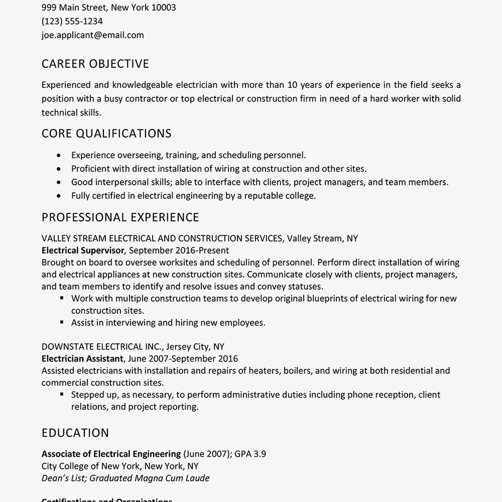 75 cool photos of sample resume electrician australia kitchen assistant job description personal summary for cv ready format in word