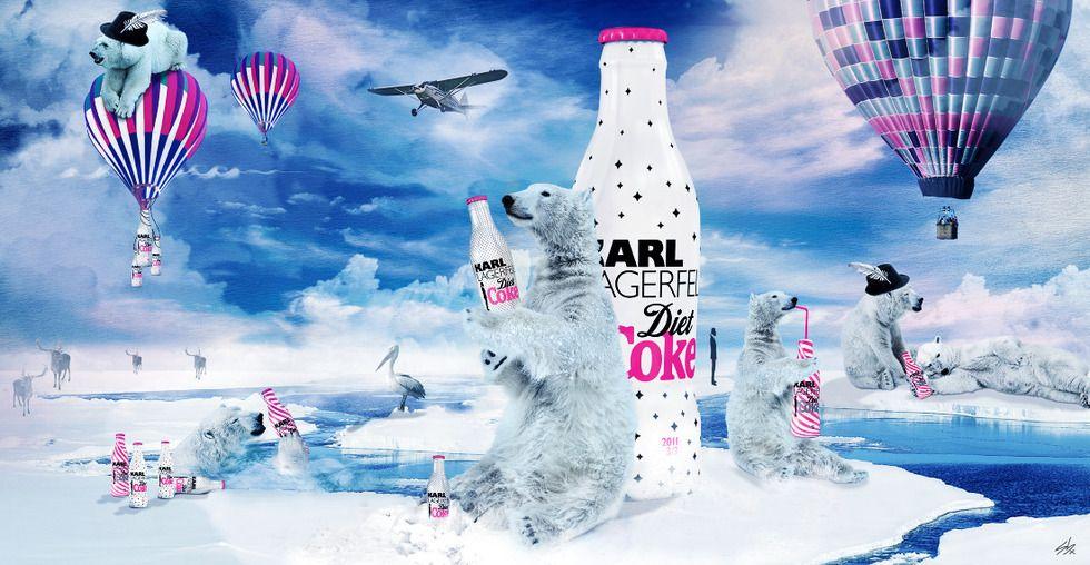 Diet Coke Print Ads   Freelances » PRINT » Art Directors » Stéphanie » Karls Diet Coke