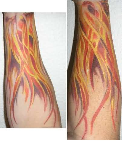 negative space flame tattoo - Google Search | Flame tattoos ...