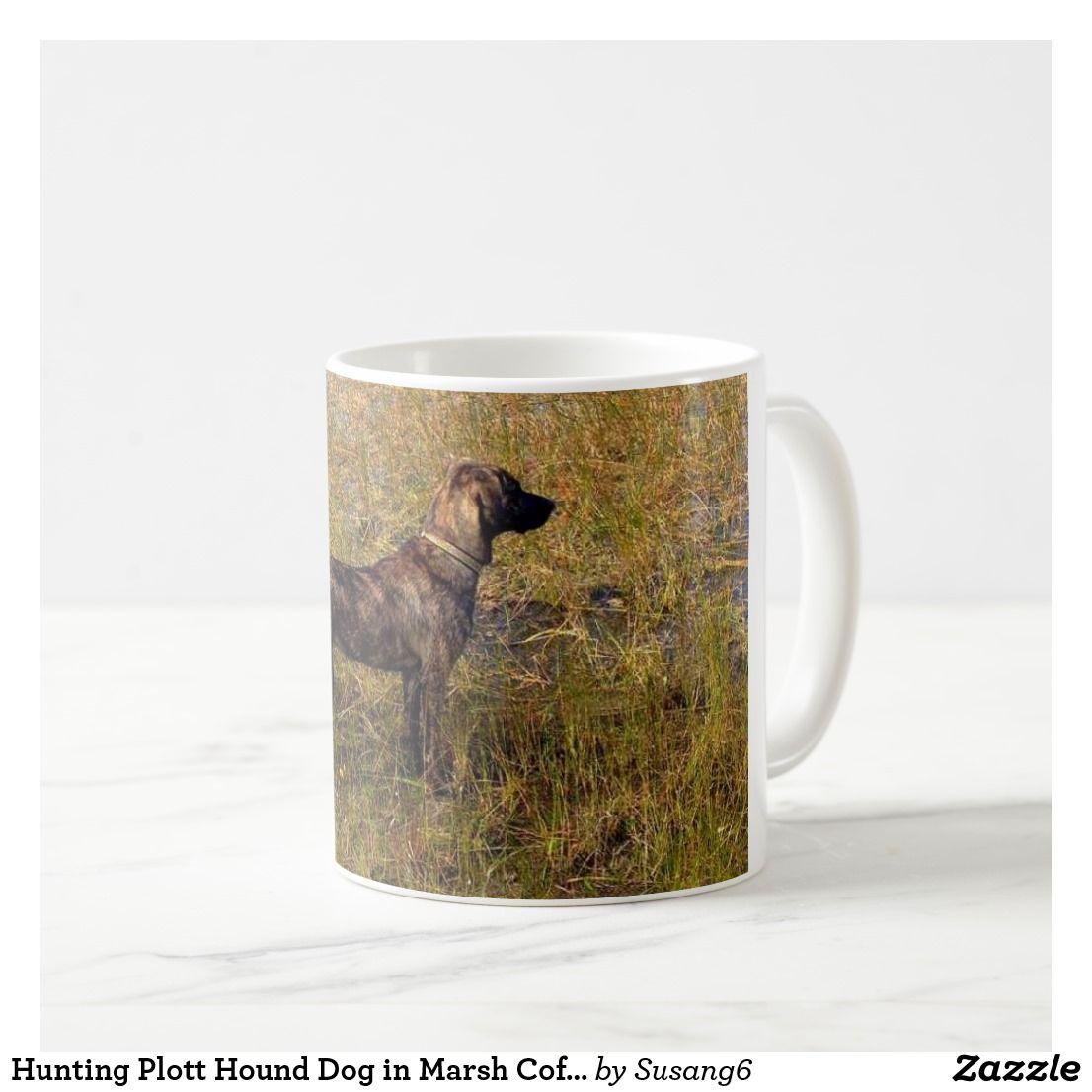 Hunting Plott Hound Dog in Marsh Coffee Mug | Zazzle.com #plotthound