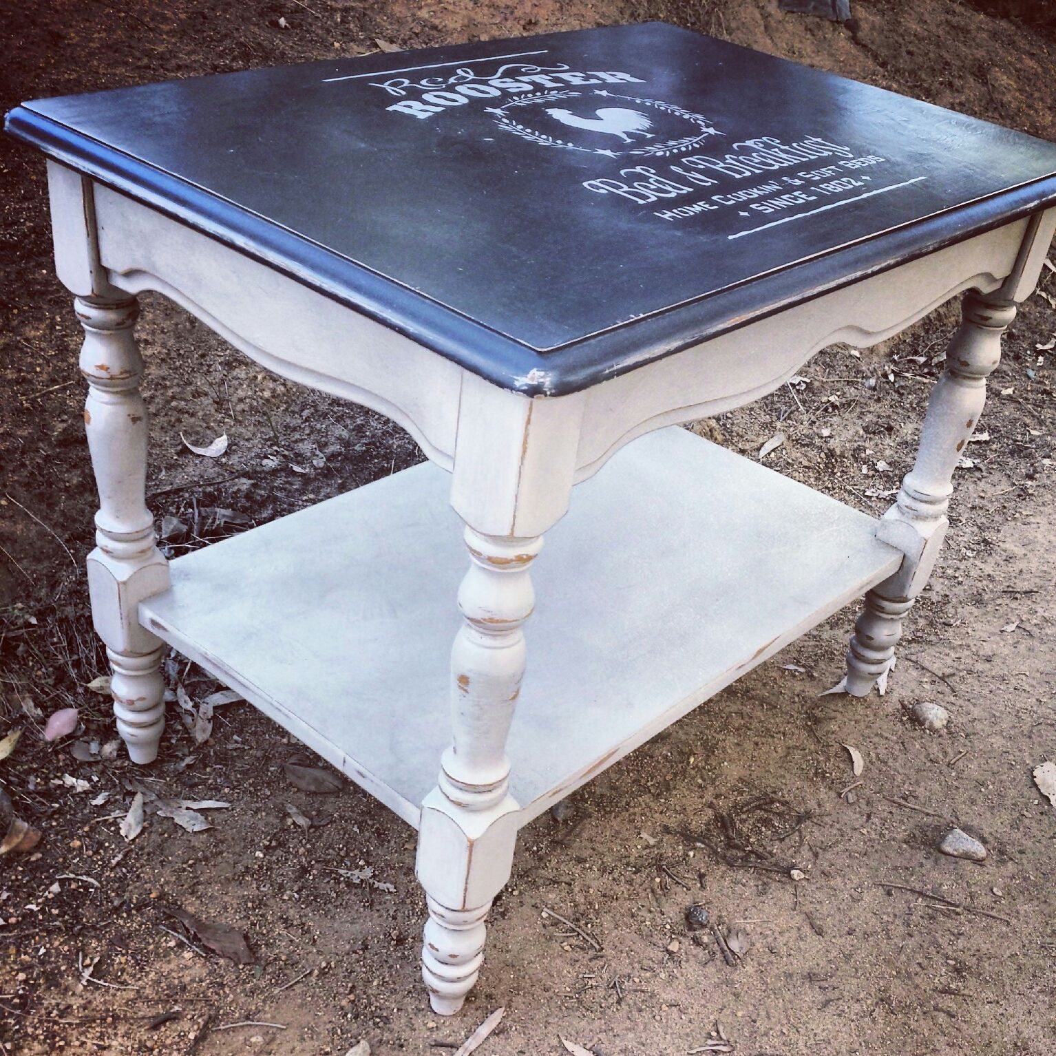 Vintage Coffee Table Painted With Annie Sloan Chalk Paint In