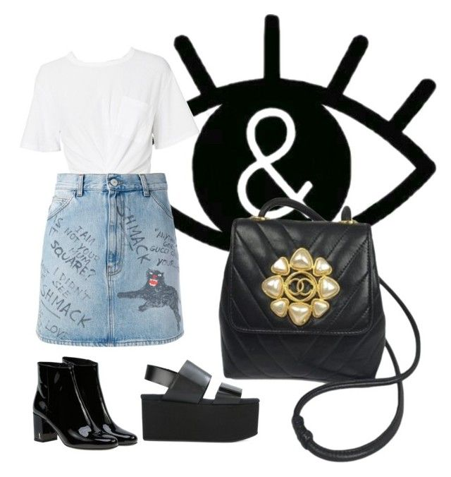 """""""Untitled #208"""" by hibiah on Polyvore featuring T By Alexander Wang, Gucci, Yves Saint Laurent, Marni and Chanel"""