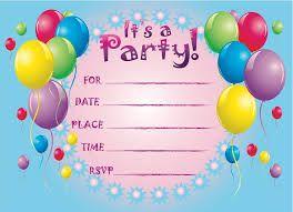 Znalezione obrazy dla zapytania party invite