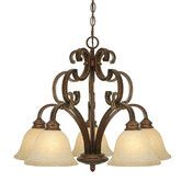 Found it at Wayfair - Golden Lighting Rockefeller 5 Light Nook Chandelier