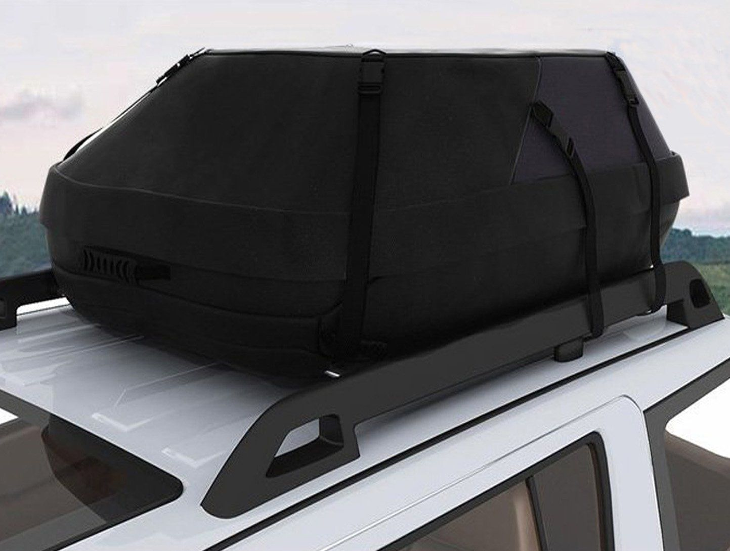 Kaluo 600d Universal Waterproof Car Top Carrier Bag 20 Cubic Hitch Tray Roof Top Cargo Bag Traveling Cars Vans Suvs Us Stock Waterproof Car Carrier Bag Wide Straps