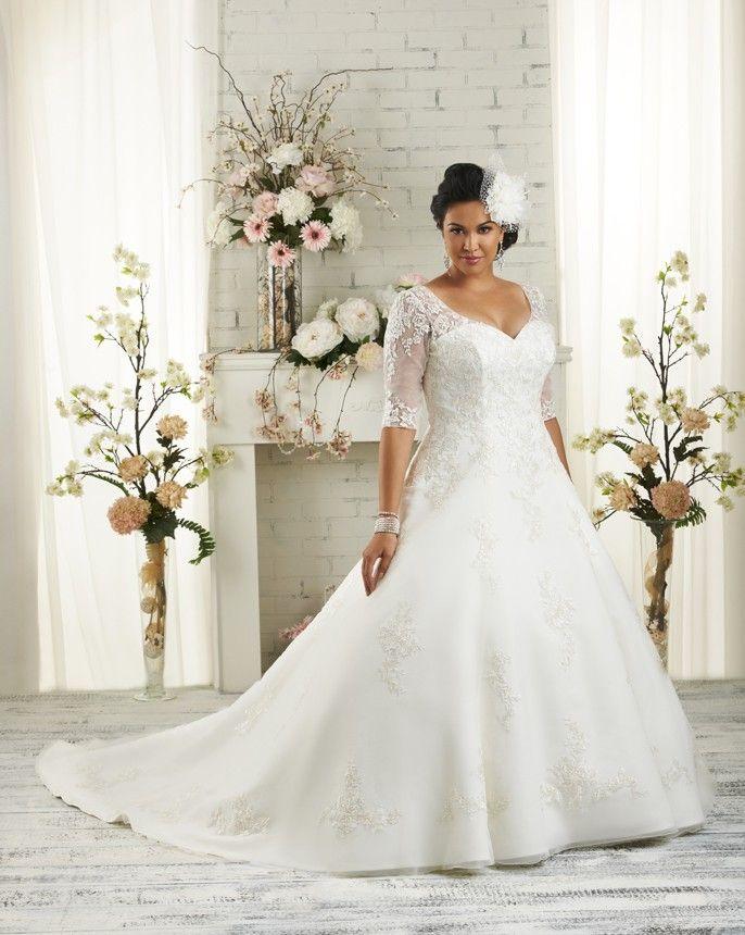 Plus Size Wedding Dress - Bonny Bridal 1508   Hochzeit   Pinterest ...