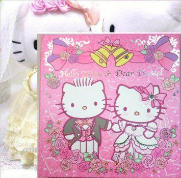 Licensed Hello Kitty Wedding Photo Al 4r 200 Pictures W Cd Holder Card Case Home Kitchen