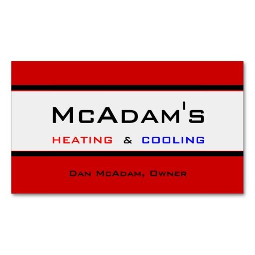 Heating cooling hvac heat pump furnace ac business card reheart Image collections